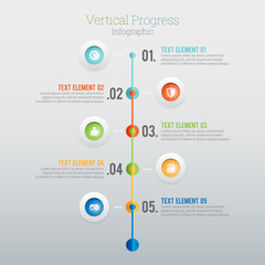 Vertical Progress Infographic