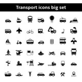 Fototapety Set of universal transportation vehicles pictograms