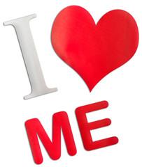 concept psychologie : I love me, estime de soi