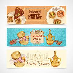 Oriental sweets banners