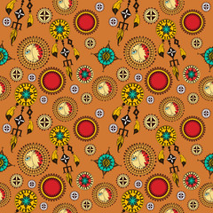 Tribal seamless background