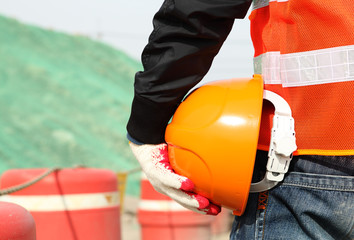 Construction safety work concept