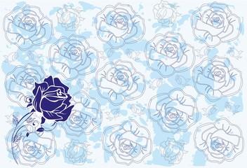 tło z różą,