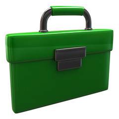Green briefcase icon