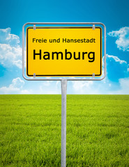 city sign of Hamburg