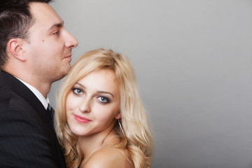 couple of lovers groom and bride studio shot