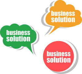 business solution. Set of stickers, labels, tags. Template