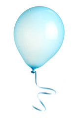 Balloon with ribbon isolated