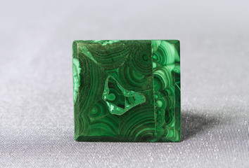 Texture of gem Malachite