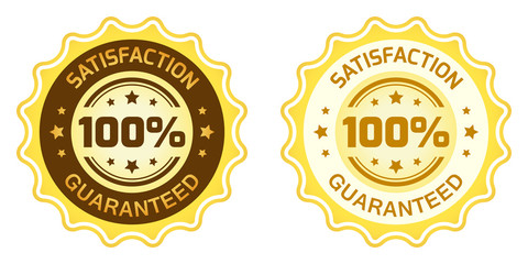 100 Satisfaction Guaranteed Label