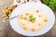 plate of mushroom soup