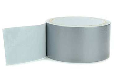 A roll of duct tape on a white background