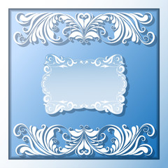 Vector paper frame and borders
