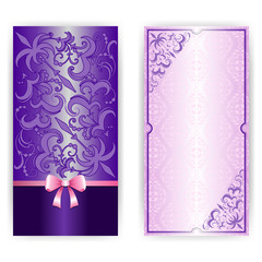 Template for greeting card, invitation