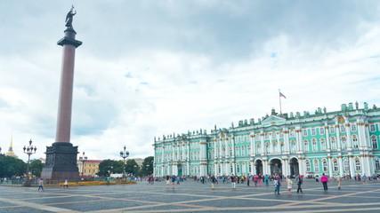 Schlossplatz. St. Petersburg. Russia.