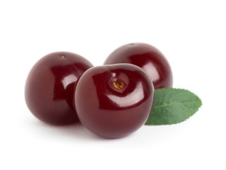 Sweet ripe three cherry
