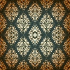 Seamless pattern with damask elements