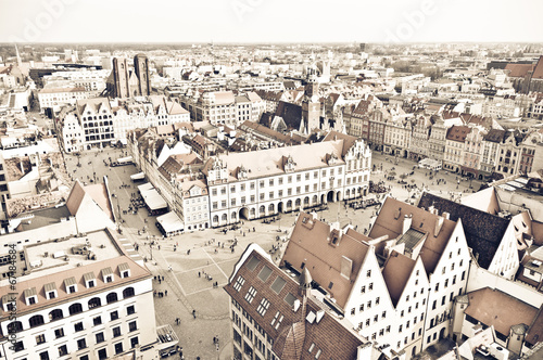 Town square of Wroclaw in vintage style, Poland - 67184684