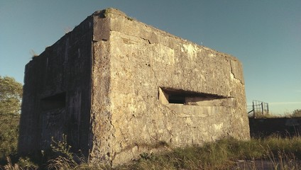 Old concrete fort WWII on Totleben island