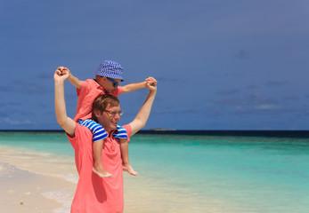 happy family on sea vacation
