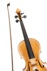 Violin with bow musical instruments
