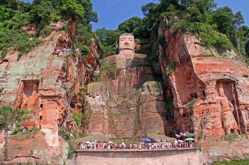 Leinwanddruck Bild Leshan Giant Budha