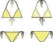 Vector illustration of women's bikini - 67186698