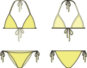 Vector illustration of women's bikini
