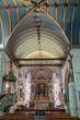 Intérieur de l'église Saint Suliau à Sizun, Finistère, Bretagne