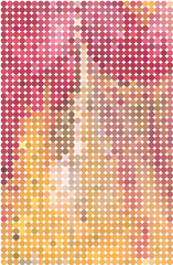 abstract vector background of colorful circles warm shades