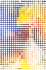 abstract background of colored circles