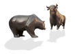 Leinwandbild Motiv Börsenkurs