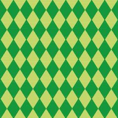 Tuch mit grünen Rautenmuster