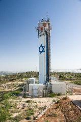 Neve Daniel water tower, west bank, israel