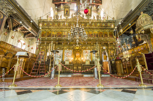 Fotobehang Midden Oosten Church of the Nativity interior, Bethlehem, Israel