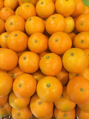 many fresh raw orange