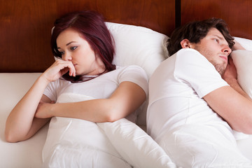 People having marital problems