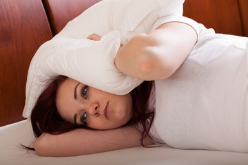 Young woman want sleep