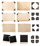 vintage paper card with corners and tapes, photo cardboard - 67189048