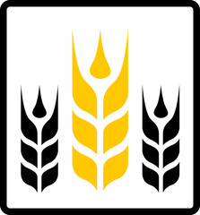 isolated wheat and darnel symbol