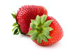 Two appetizing strawberries.