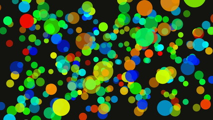 Background with different colors circles