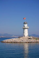Lighthouse in Alanya, Turkey