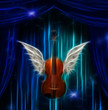 Violin with wings