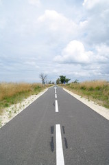Fahrradweg in Lacanau Ozean 5