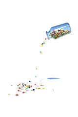 ビンからこぼれる薬