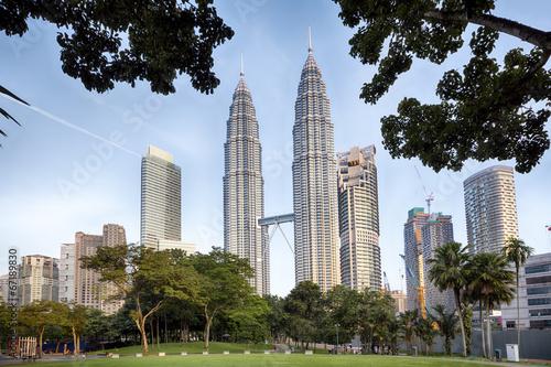 Poster KLCC Park at early morning in Kuala Lumpur, Malaysia