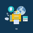 Fax icon in flat design