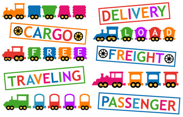 trains for travel and cargo transportation