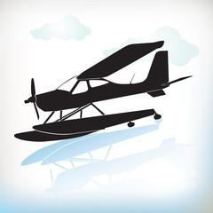 plane in silhouette 0098